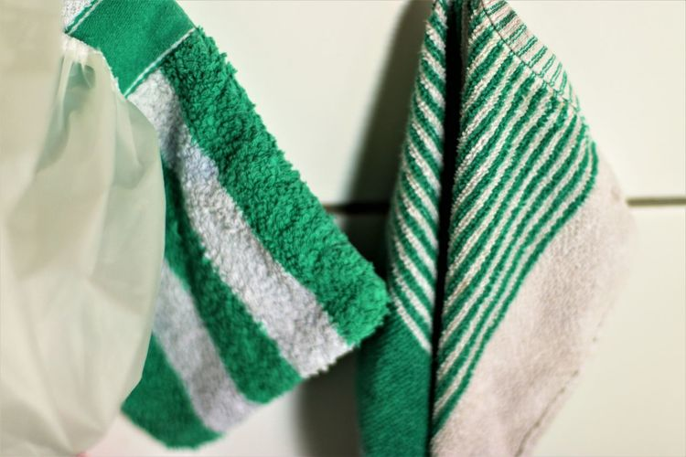 Close-up of multi colored towel