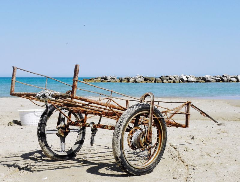 Sea Clear Sky Water Horizon Over Water Scenics Transportation Beach Abandoned Mode Of Transport No People Outdoors Day Sky Sand Nature Beauty In Nature Fishing Rusty Adriatic Coast EyeEmNewHere