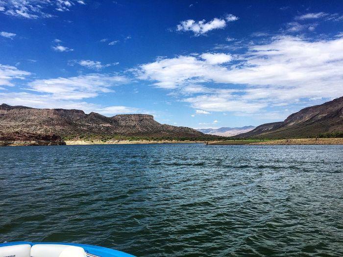 Views ⚓️ Lakepleasant Arizona Desert Wakeboarding Wakesurfing Leisure Activity Sunshine Water Lake Day Boat Day