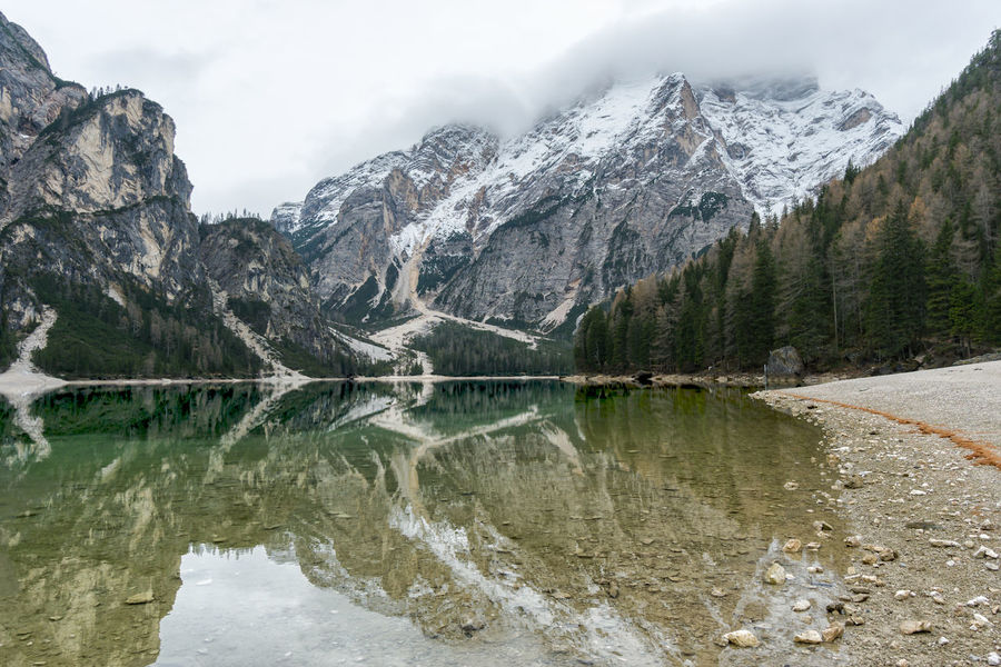 a6000 with sel1018 Braies Lake Cloud - Sky Day Lake Landscape Mountain Mountain Range Nature Nature Nature Photography No People Outdoors Reflection Reflection Lake Scenics Sky Snow Travel Tree Water Week Of Eyeem My Year My View