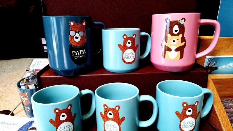 The Bear Family Tea Tea Cup Papa Bear Mama Bear Little Bear Coffee Coffee Cup Bears Cute Cups Blues And Pink EyeEm Selects Multi Colored Variation Pair Mug Things That Go Together
