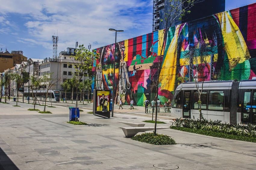 Multi Colored Built Structure Outdoors Sky Day Building Exterior Architecture Variation No People Rio De Janeiro City Tourism Boulevard Boulevard Olimpico Architecture Travel Destinations
