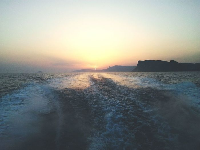 Boat Sunset Hollidays Summer Water Sea Calanques  France Sanary Sur Mer