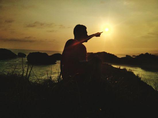 Sunset Amazingindonesia Sunset Silhouette Musician Standing Men Sky