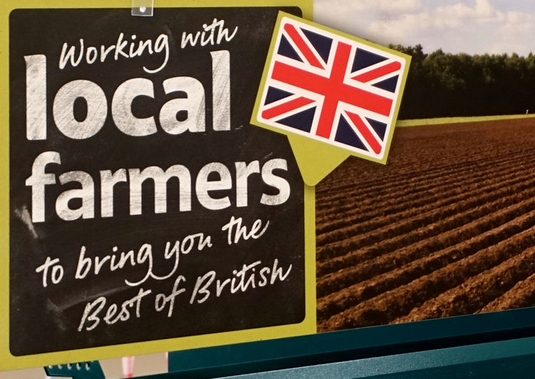 British Farmers Best Of British Close-up Communication Day Local Farmers No People Outdoors Patriotism Text Uk Supermarket Union Jack Website Design Investing In Quality Of Life