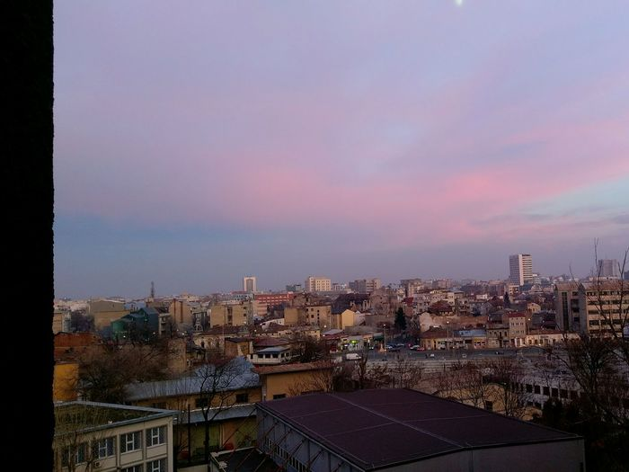 Beautiful view from our flat. Urban Photography Urban Landscape Beautiful Bucharest Urban Lifestyle Skylovers Pinksky Buildings Bucharest Sky Outdoors No People Built Structure Cityscape City Urban Beautifulromania