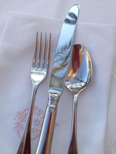 Hotel breakfast Mirador De Dalt Vila Hotel Hotel Breakfast Cutlery Silverware  Breakfast Palm Trees SPAIN Eivissa Ibiza Town