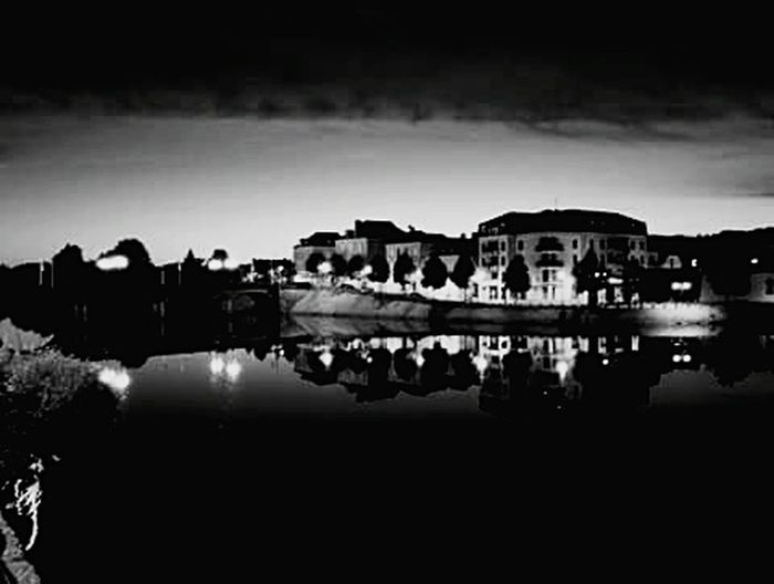 Blackandwhite Night Water River No People Built Structure France The Week On EyeEm