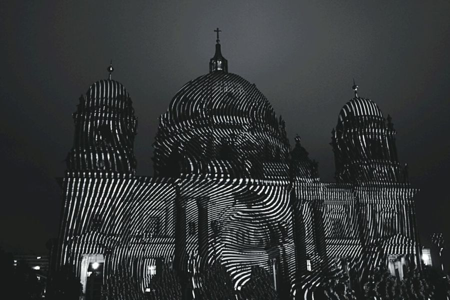 Festival Of Lights Blackandwhite Architecture Architecture_bw Pattern Trippin Ballz Berlin Cathedral Monochrome Festival Of Lights 2015