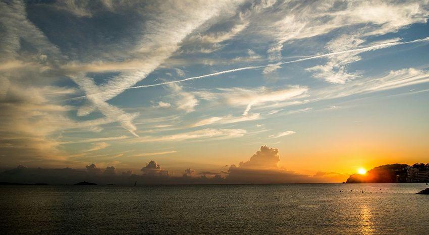 Sanary Sur Mer Sunset Sky And Clouds Impressive Seascape Sea And Sky Clouds Olympus OM-D E-M5 EyeEm Best Shots EyeEm Best Pics