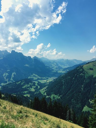 Mountain Tranquil Scene Scenics Mountain Range Landscape Tranquility Non-urban Scene Beauty In Nature Sky Remote Tourism Travel Destinations Idyllic Nature Physical Geography Majestic Cloud - Sky Countryside Vacations Cloud Gstaad Switzerland Swissgirl