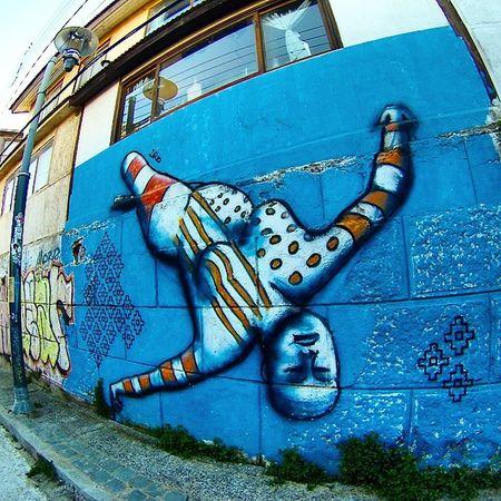 La chilena del chileno. Valparaiso. Chile. Chile Valparaíso Gopro Hero3 streetart arte pintura dibujo draw paint mural igrsargentina igrschile loves_americas love_team