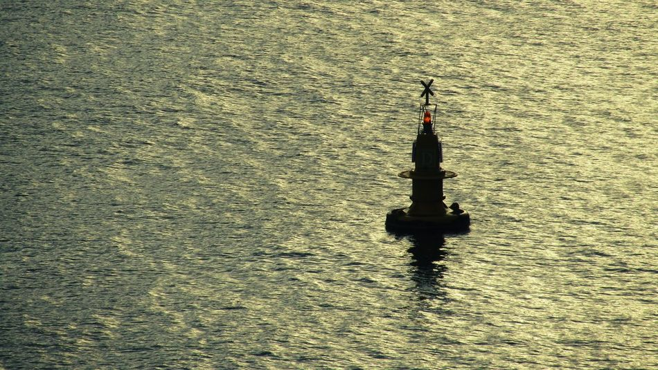 Shippingworldwide Berthing  Shipping Terminal Shipping  Berthing  Merchant Navy Merchant Ship Mobile Phone Photography Navigation Navigation Mark Buoys Buoy On The Water Buoy At Sunset Buoy In Sea Shipping  Merchantnavy No People Silhouette Tranquil Scene