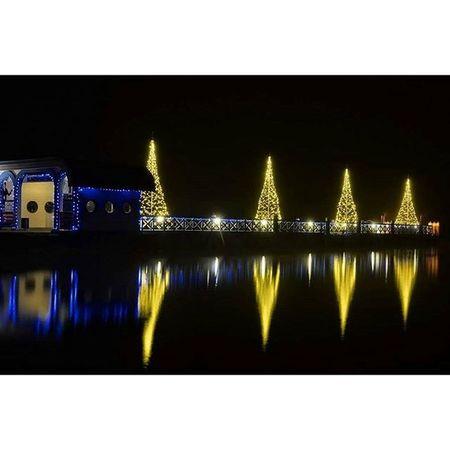 Klagenfurt_am_wörthersee Weihnachten Christmas Lights Nightshot