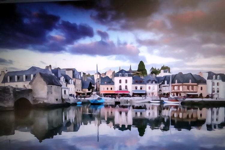 10 Brittany ❤ Saint Goustan 56 Cloud - Sky Colorful Digital Art Outdoors Reflections