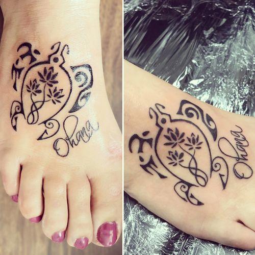 Human Hand Tattoo High Angle View Close-up