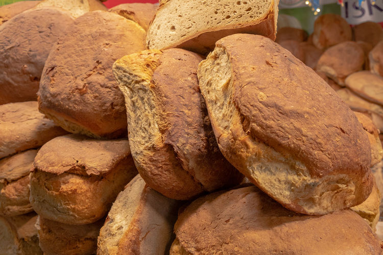 Close-up of bread for sale in market