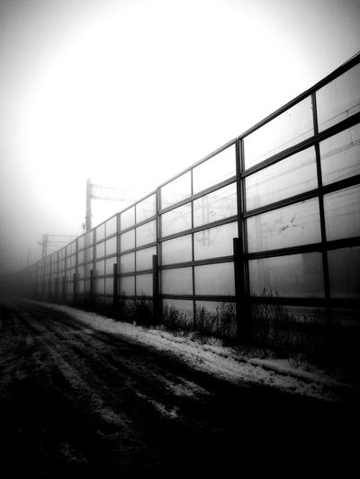 Winter with fog behind the wall Fog Train Track Sound Wall Cold Winter ❄⛄