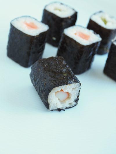 Sushi Close-up Day Dessert Food Food And Drink Freshness Hoso Maki Indoors  Indulgence No People Ready-to-eat Sushi Sweet Food Temptation