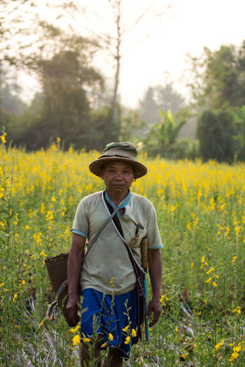 Alone Care Care Farms Day Escapism Farmer Field Green Green Color Producer Thailand Yellow