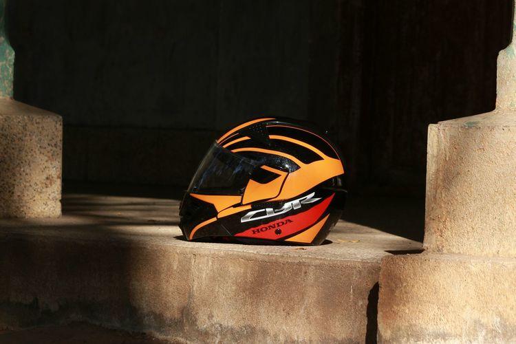 Nagpur India Wood Outdoors Honda Cbr Orange Helmet Safety Saftyfirst EyeEm Selects No People Indoors  Black Background Day