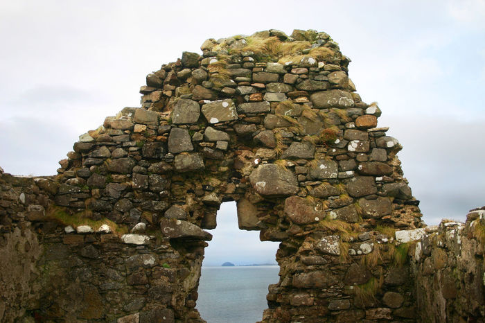 Duntulm Castle remains Ancient Remains Architecture Cloud - Sky Duntulm Castle Isle Of Skye Scotland No People Outdoors Scenic View Sea Sky Tourist Destination