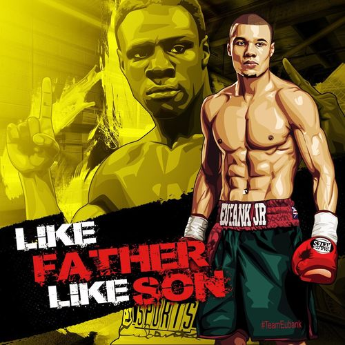 Poster and vector art just done of the #Eubanks ... 😎👊 LIKE FATHER LIKE SON