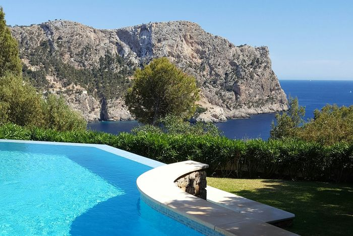 Andratx Niceview Sea And Sky Summer Mallorca Water Sun Sky Day Tranquil Scene Sea Mallorca, No Filter Mountain No People Clear Sky Boat Pool Pool Time