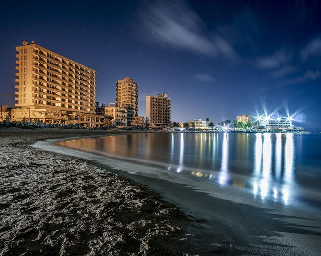City At Waterfront At Night