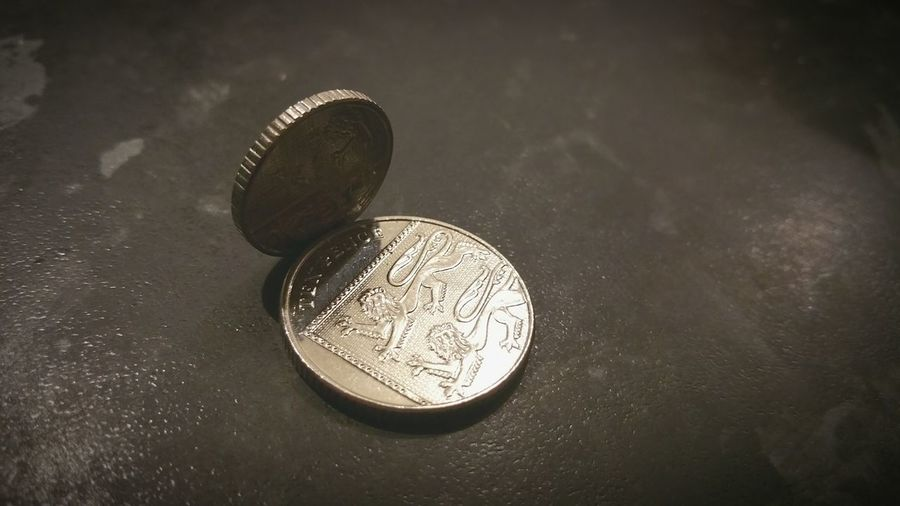 Coins Metal Ten Pence Five Pence Decimal Shiny