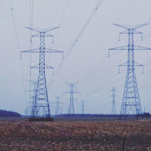 As far as the eye can see . . . . Ontario Canada Kingston_ontario Powerlines Asfarastheeyecansee Fields