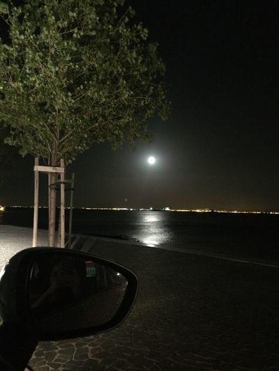 Beautiful Night! Lisbon Portugal Moon Tagus River Road Car MeinAutomoment