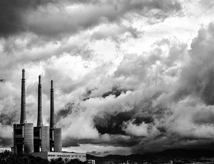 San Adria Industry Factory Smoke Stack Sky Chimney No People Day