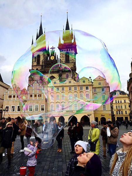 The Tourist SilviaPennazio Prague Children Happy Best  Bestpic EyeEm Best Shots Eyem Gallery Clock Astronomicalclock