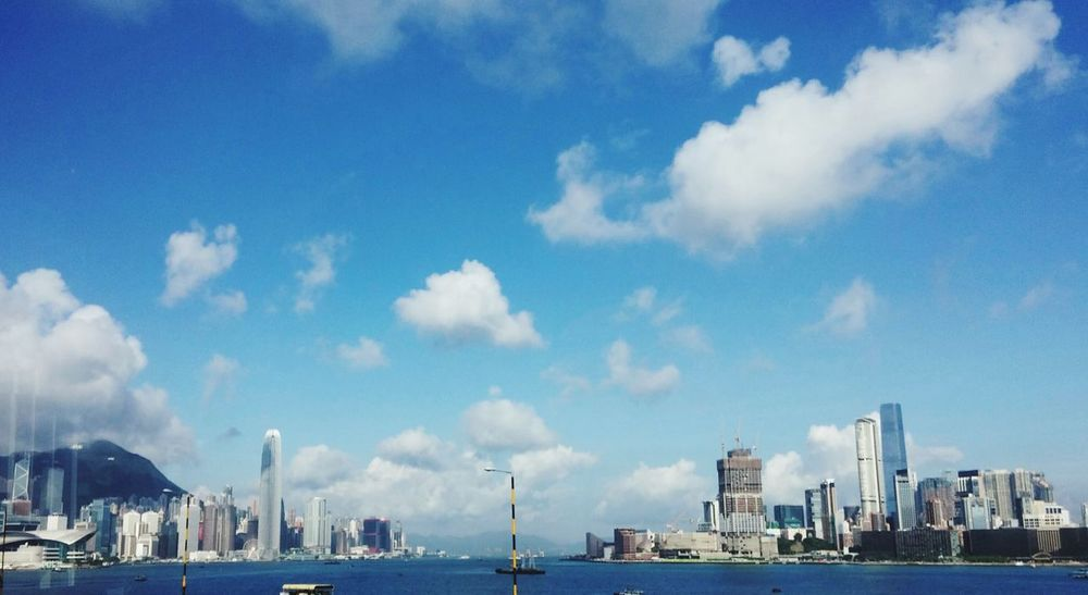 HongKong Cityscapes Victoria Harbour Blue Sky Cosmopolitan Busy City Hong Kong The Great Outdoors - 2017 EyeEm Awards