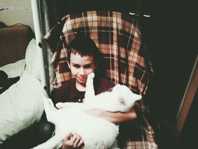 👦🐱 My Little Brother ❤ and My Cat Enjoying Life Cheese! Hello World Home Crazy First Eyeem Photo