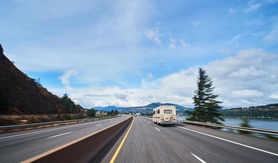 Highway against sky