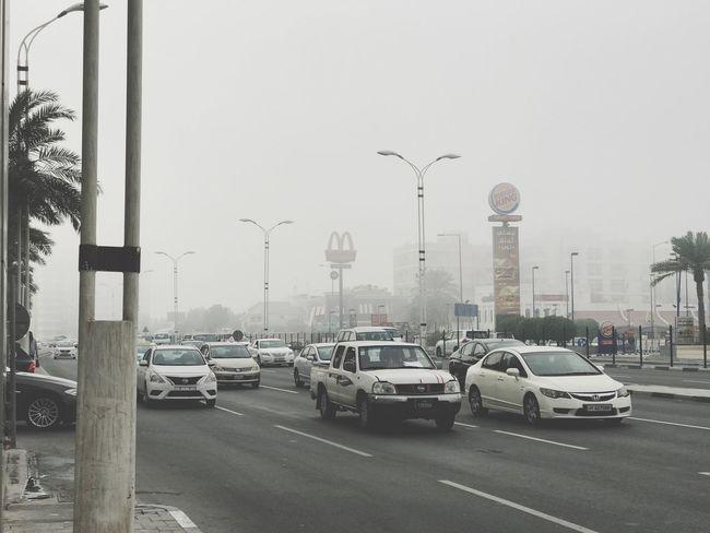 Foggy morning in Qatar