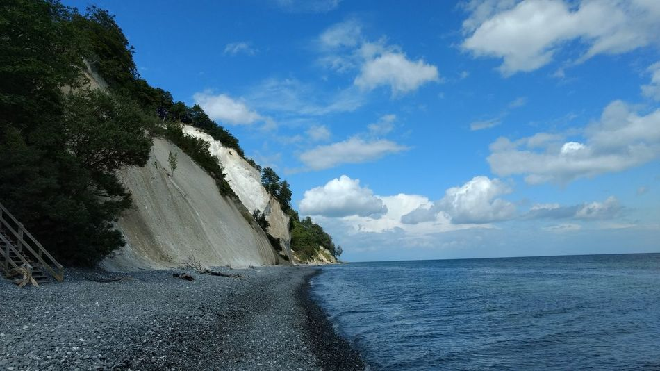 Møns Klint Denmark Blue Cloud - Sky Outdoors Sky Water No People Day Summer Nature Tree Beach Beauty In Nature Scenics Sea Vacations chalk cliffs