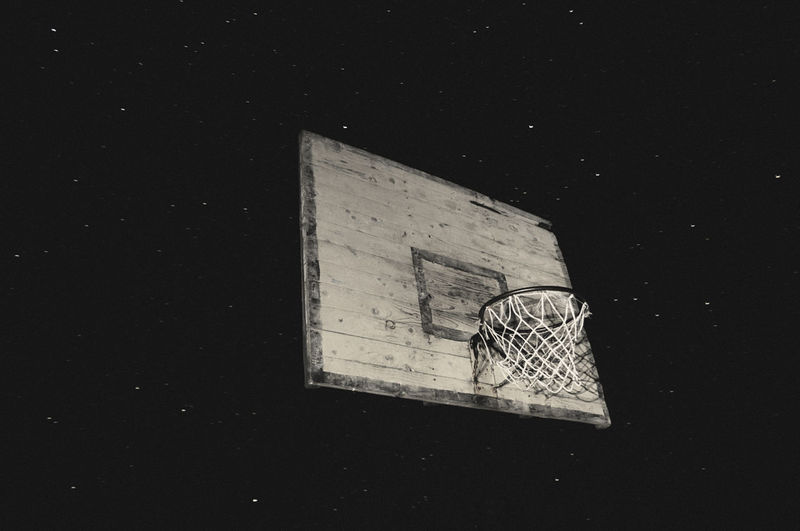 Spaceballs Basketball Cosmos Dunk Half Time Linas Was Here Long Exposure NBA Night Nightscape Old Rotten Starry Sky Stars