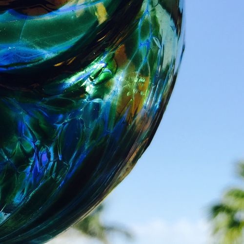 Sunlight through Hand Blown Glass Blown Glass IPS2016Composition Reflected Glory Glass Art Glass - Material Our Best Pics Crystalball Crystal Ball Globe Glass Ball Glassball Ball Glass Collection Glass Objects
