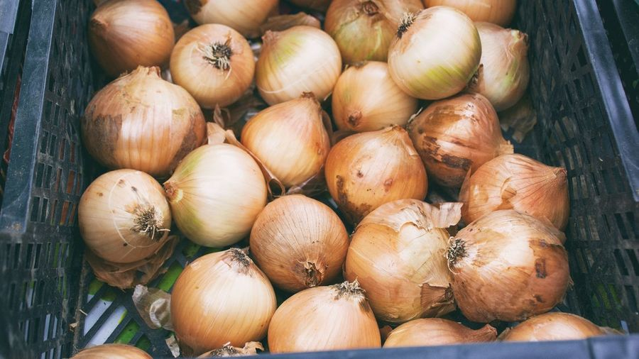 Close-Up Of Onion In Market
