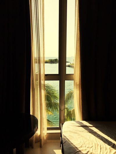 Seaview at port dickson Window Indoors  Curtain Karyarepublic Traveling Home For The Holidays Leisure Activity Malaysianphotographer Supportmymision
