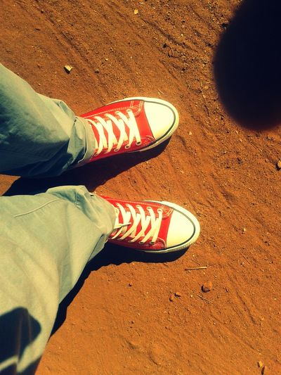 African sun and Converse All Stars...