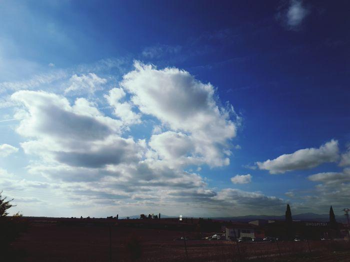 Clouds sky horizon Cloud - Sky Sky Outdoors Nature No People Day