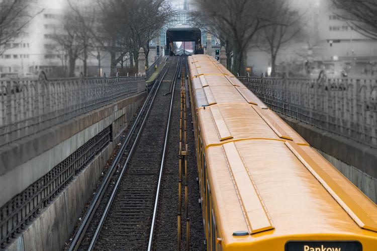 Architecture Berlin Berlin Photography Berliner Ansichten Keycolor No People Outdoors Railroad Track Street Photography Streetphotography Transportation U-Bahn Discover Berlin