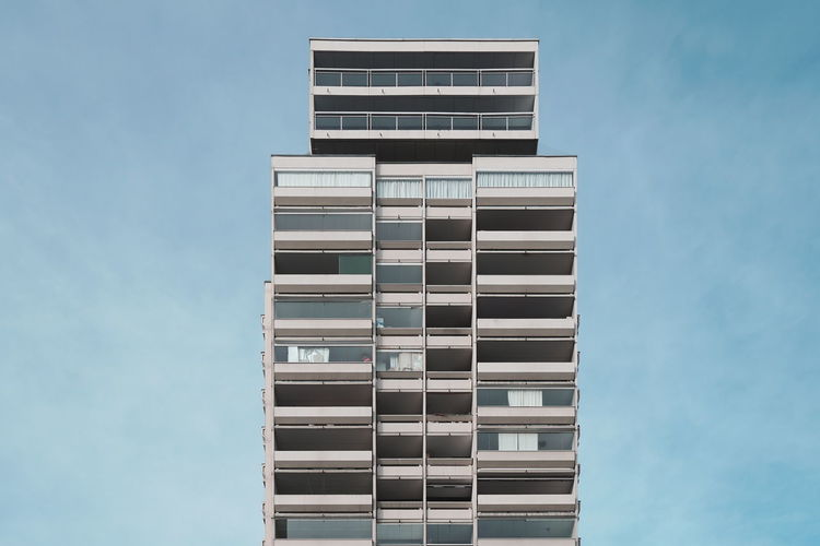 Built Structure Building Exterior Architecture Sky Building Tall - High Pattern Modern Apartment Skyscraper Façade Simplicity