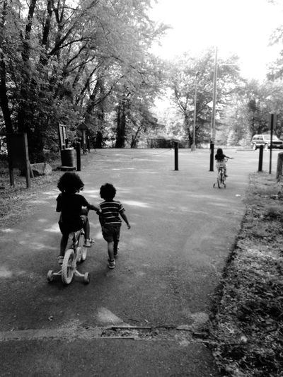 A day of exploring with the kiddies Hanging Out Taking Photos EyeEm Best Shots Wearefamily Children Blackandwhite Enjoying Life On Your Bike