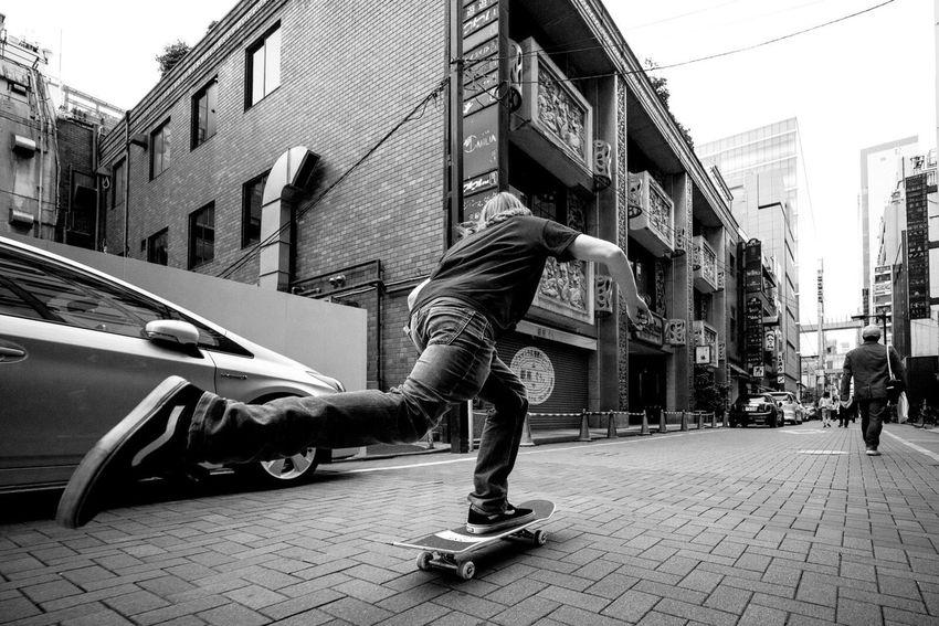 Jim Warrier cruising Tokyo Skateboarding Guccighost Tokyo Japan