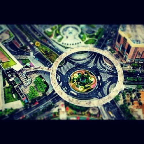 The circular Walkway was Constructed in Lujiazui district of Pudong in Shanghai, intelligent design and functional. arquitecture china art photooftheday peoples Day fotododia followme street city mundo world pic internet